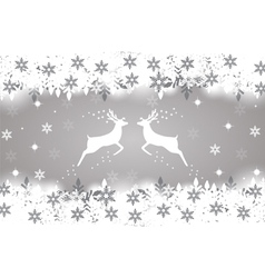 Reindeer with stars snowflakes and glitter vector image vector image