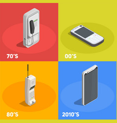 retro devices 2x2 design concept vector image