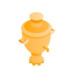 Samovar isometric 3d icon vector image