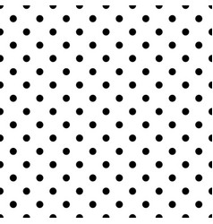 seamless black polka dot pattern on white vector image