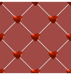 Seamless Polygonal Hearts Pattern vector image