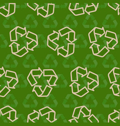 Seamless recycling sign pattern vector