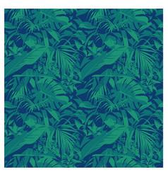 Seamless summer hawaiian tropical pattern with vector