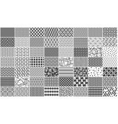 set of monochrome seamless geometric pattern vector image