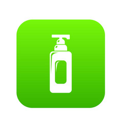 shampoo dispenser icon green vector image