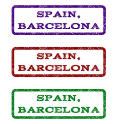 spain barcelona watermark stamp vector image