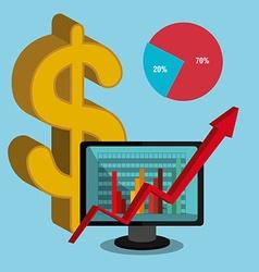 Stock market and economy graphic design vector