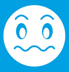 suspicious emoticon white vector image