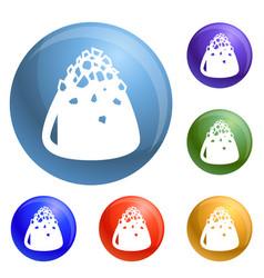 Sweet truffle icons set vector