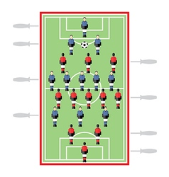 Table Football vector image