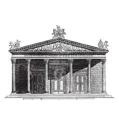 Temple jupiter capitolinus at rome vintage vector