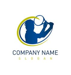 tennis logo design vector image