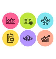 Trade infochart quiz test and sharing economy vector