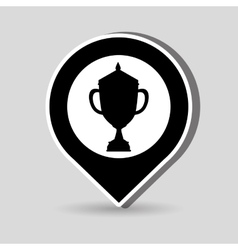 Trophy award design vector