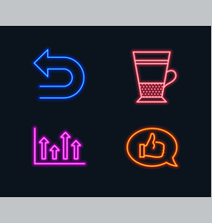 Upper arrows undo and double latte icons vector