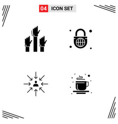 User interface pack 4 basic solid glyphs of vector
