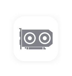 Video card icon pictogram vector