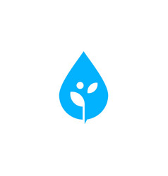 water drop leaf sprout logo icon vector image