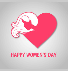 womens day typographic card with vintage design vector image