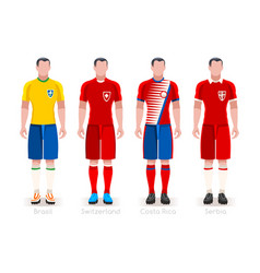 world cup group e jerseys kit vector image