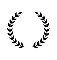 wreath symbol for award emblem vector image
