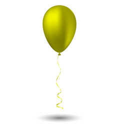 yellow balloon on white background vector image