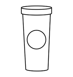 Coffee glass icon outline style vector image