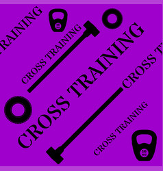 cross training seamless pattern with kettlebell vector image vector image