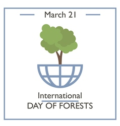 Day of Forests vector image vector image