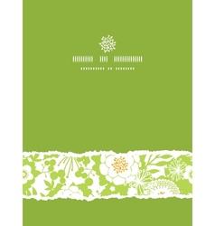 Green and golden garden silhouettes vertical torn vector image