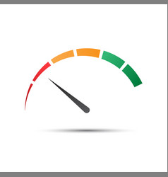 simple color tachometer with a pointer vector image