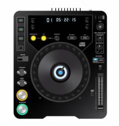 DJ cd player vector image