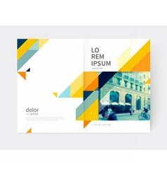 Minimalistic Brochure design vector image vector image