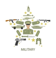 Army Star Composition vector image vector image