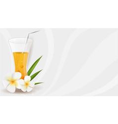 healthy juice banner vector image