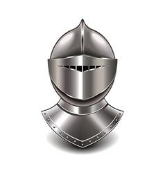 knight helmet isolated vector image