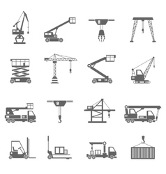 Lifting Equipment Icons vector image vector image