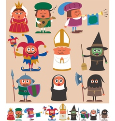 Medieval People 2 vector image vector image