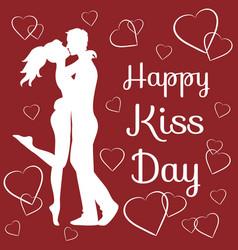 world kiss day vector image vector image