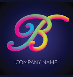 b letter logo icon blending color vector image