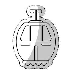 cable car transport gondola cut line vector image vector image