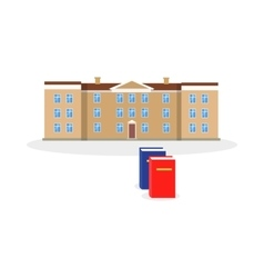 College Building and Book Design Flat vector image vector image