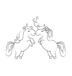 cute unicorns cartoon vector image vector image