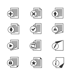 File document icons set vector image