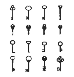 Key icons vector image vector image