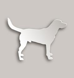 Labrador paper style vector image