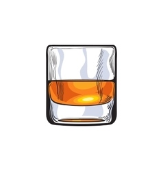Scotch whiskey rum brandy shot glass vector