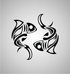 Tribal Pisces vector image vector image