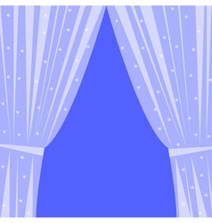 window with curtain vector image