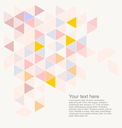 Abstract flat triangle surface background vector